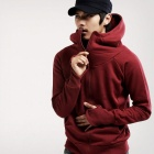 Fashionable Leisure Hooded Cardigan for Men - Dark Red (Size-L)