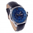 ORKINA W003 Fashionable Simple Calendar Men's Quartz Analog Wrist Watch - Black + Silver + Blue