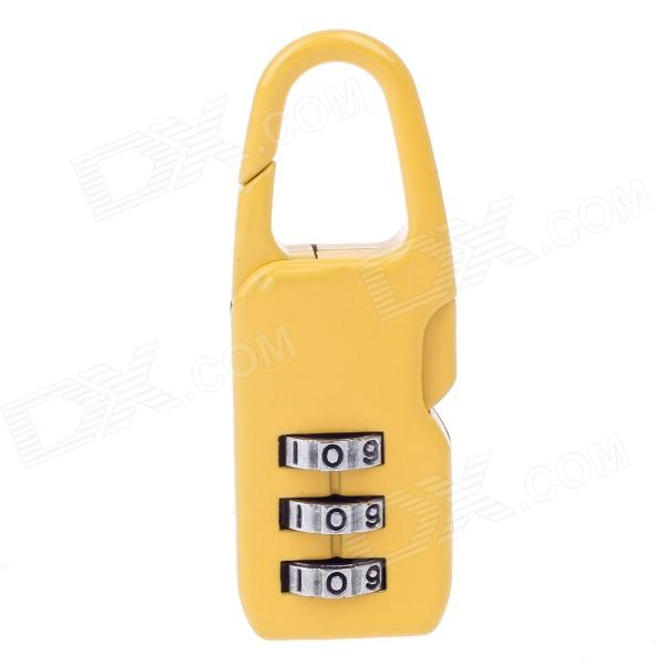 HLD HLD-13301 Zinc Alloy PIN Combination Pad Lock - Yellow + Silver