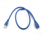 ULT-unite ZJX-05 USB 3.0 Male to Micro-B Male High-Speed Transmission Cable - Blue (62cm)