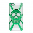 Protective Skull Style Electroplate Plastic Back Case for Iphone 5 - Green