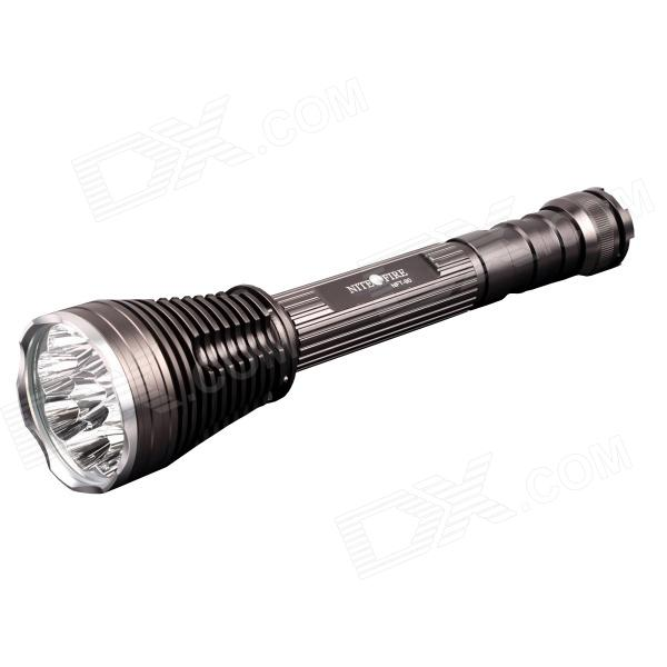 NITEFIRE NFT-90 4500lm 5-Mode White Memory Flashlight w/ 9 x Cree XM-L T6 - Grey (3 x 18650 / 26650) 2800lm 3 mode white bicycle headlamp w 4 x cree xm l t6 grey
