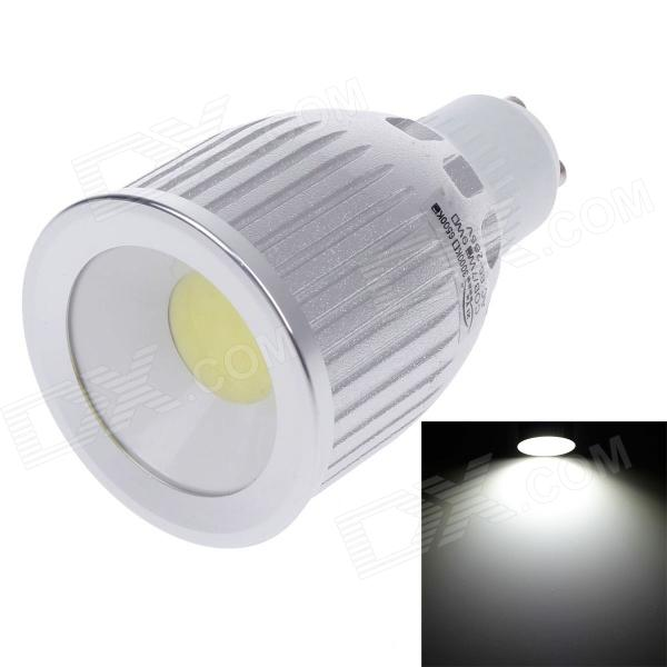 ZIYU ZY-0813-007 GU10 7W 630lm 6500K COB LED White Light Lamp Bulb - Silver + White (85~265V) ziyu zy 0814 005 7w 1200lm 470nm 120 led blue light decorative lamp strip white 12m 220 240v