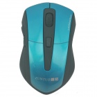 ZUNTUO ZT-301-800 2.4GHz Lanse / 1200/1600 / 2000dpi Wireless Optical Mouse - Schwarz + Blau (2 x AAA)