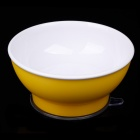 RI KANG RK-3800 Baby PP+ PVC Strong / Firm Suction Cup Bowl - Yellow + White (150ml)