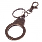 Single Loop Handcuffs Style Zinc Alloy Keychain - Bronze