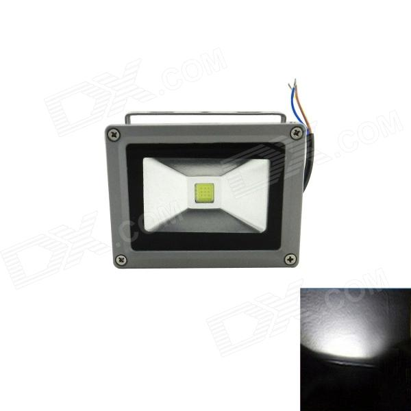 Waterproof Square 10W 800lm 6500K LED White Outdoor Flood Light Lamp - Black + Grey (85~265V)