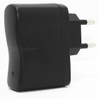 MAX-A003-D012 Universal 5V 500mA EU Plug Power Adapter w/ Female USB Output - Black