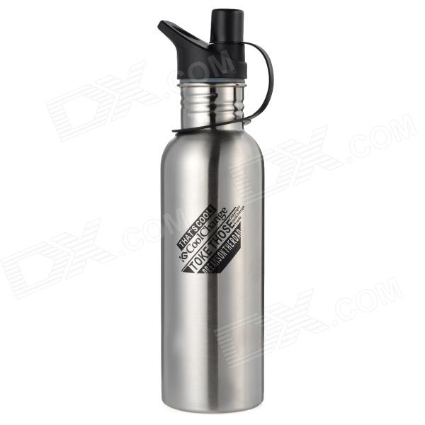 CoolChange Outdoor Stainless Steel Water Bottle - Silver + Black (750mL) автоматический выключатель tdm ва47 125 3р 16а 15ка с sq0208 0074