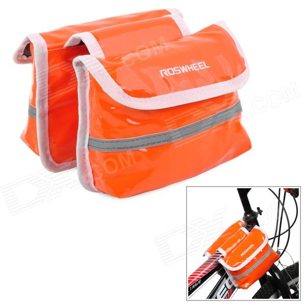 Roswheel Bike Bicycle Front Tube Bag - Orange roswheel 12659 waterproof cycling bicycle pu top tube double storage bag black