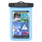 06 Waterproof Diving Bag Pouch w/ Neck Strap for Samsung i9200 - Blue + Black
