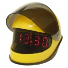 Fashion Helmet Style Electronic Induction Alarm Clock - Yellow + Black (3 x AAA)
