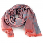 Fashion Leopard Pattern Tassels Voile Scarf Shawl for Women - Pink + Grey