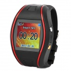 GPS-K9 Rechargeable Security GPS Locating Tracker / Monitor / Sport Watch - Black + Red