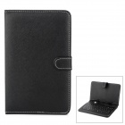 "REKB002 Universal USB Keyboard PU Leather Case w/ Holder for 7"" Tablet PC - Black (French / English)"
