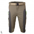 ARSUXEO AR1315 Men's Outdoor Water Resistant Trousers - Grey + Khaki (Size L)