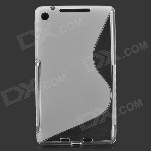 S Pattern Protective TPU Case for Google Nexus 7 II - Translucent цена 2017
