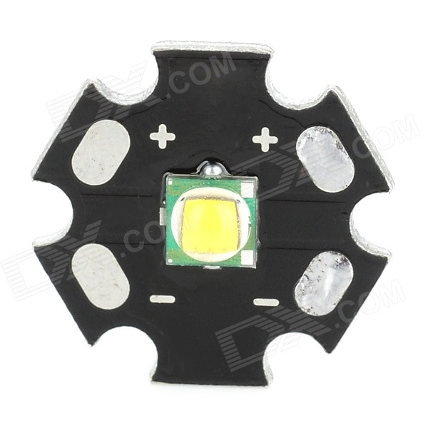 10W 650lm Warm White Light LED Emitter On 20mm Star - Black + Silver (3.0~4.2V) 10w 12w ultra violet uv 365nm 380nm 395nm high power led emitting diode on 20mm cooper star pcb