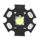 10W 650lm Warm White Light LED Emitter On 20mm Star - Black + Silver (3.0~4.2V)