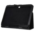 Lichee Pattern Protective PU Leather Case for Samsung Galaxy Tab 3 10.1 P5200 - Black