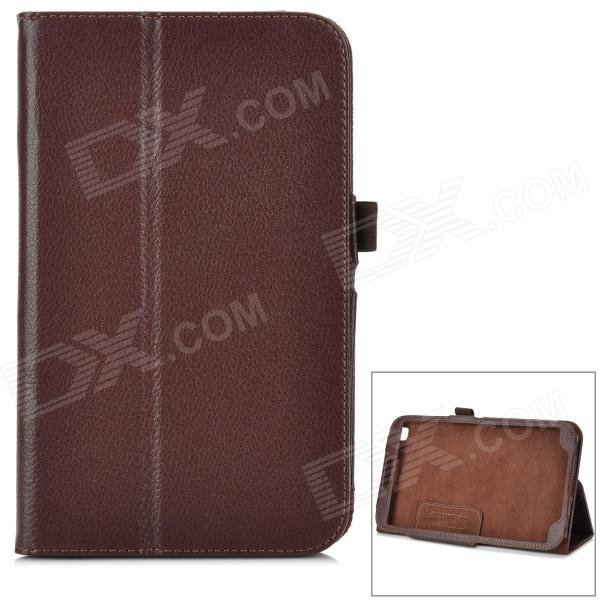 Protective PU Leather Case w/ Stand for Samsung T310 - Brown protective pu leather case w stand for tablets within 9 black