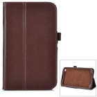 Protective PU Leather Case w/ Stand for Samsung T310 - Brown