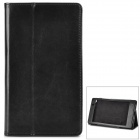 Protective PU Leather Flip-open Case for Google Nexus 7 - Black