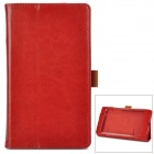 Protective Flip-open PU Leather Case for Google Nexus 7 - Brown
