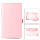 Stylish Flip-open Durable PU Leather Case w/ Stylus + Holder for Google Nexus 7 II - Pink