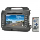 "Klyde KD-8043 7"" Touch Screen Car DVD Player w/ GPS / Bluetooth / FM / AM / Wi-Fi - Greyish Black"