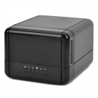 "Unitek Y-3357 USB 3.0 1000M LAN 2-Bay 3.5"" HDD NAS Enclosure - Black"