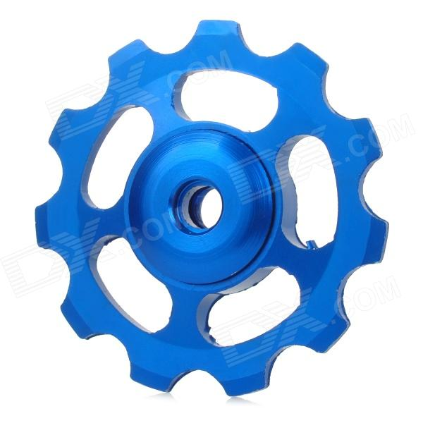 UU-OM Aluminum Alloy CNC Bike Rear Derailleur Guide Pulley Wheel - Blue 5 pin aviation aluminum alloy bow sight scope w led light yellow camouflage
