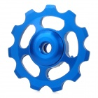 UU-OM Aluminum Alloy CNC Bike Rear Derailleur Guide Pulley Wheel - Blue