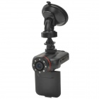 "K8000 2.0"" TFT 1080P 2.0MP CMOS Wide Angle Car DVR Camcorder w/ G-Sensor / 8-IR LED / SD - Black"