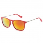 OREKA 4187 UV400 Protection Polarized Red REVO Lens Sunglasses - Red + Silver