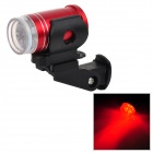 LW-027 Light Bike Safety Light Red Tail 6-LED - rojo (2 x CR2032)