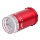 LW-027 6-LED Red Light Bike Safety Tail Light - Red (2 x CR2032)