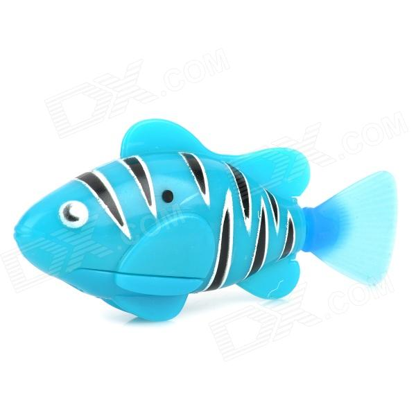 193 Decorative Aquarium Lifelike Tropical Fish + Aquatic Plants + Screwdriver - Blue + Black + White