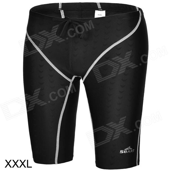 Sbart  Men's Water Sport Swimming Trunks - Black (Size XXXL)