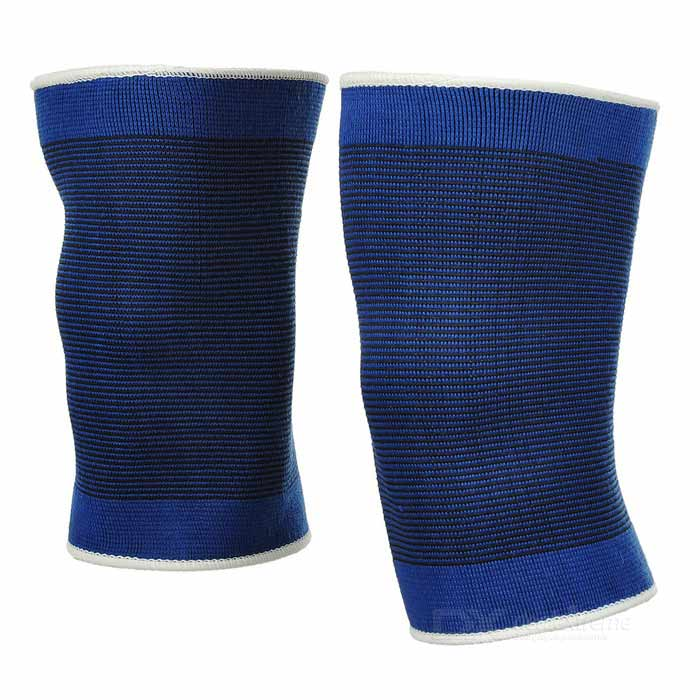 CoolChange KG-788 Outdoor Sports Knee Support - Blue + Black (2 PCS)