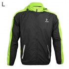 ARSUXEO AR011 Outdoor Waterproof Sunproof Nylon Jacket w/ Hood - Fluorescent Green + Black (Size L)
