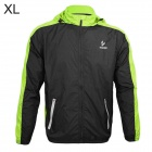ARSUXEO AR011 Outdoor Waterproof Sunproof Nylon Jacket w/ Hood - Fluorescent Green + Black (Size XL)