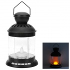 Multifunction Touch Control Music Speaker LED Lantern w/ TF Card Slot - Black + Transparent