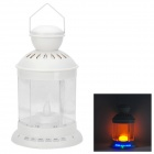 Multifunction Touch Control Music Speaker LED Lantern w/ TF Card Slot - White + Transparent