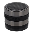 BT SPEAKER Super Bass Bluetooth 2.1 + EDR Speaker -Black + Metal Grey