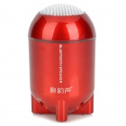AoYunSheng BT-101 Rocket Head Style Bluetooth v2.1 Speaker w/ Microphone - Red + White