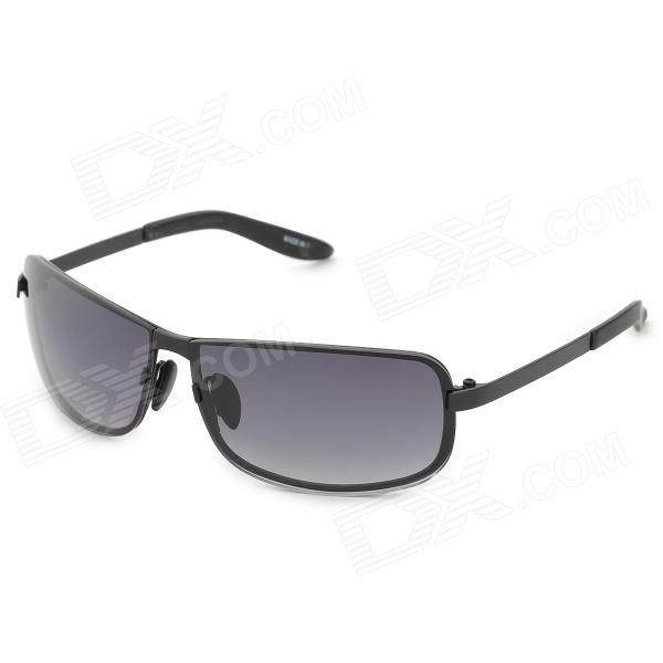 Fashion UV400 Protection Nylon Resin Driving Glasses Sunglasses - Black + Gradual Grey alliance 317 12 5 18 131g 12pr tl