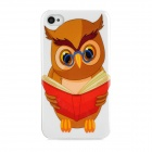 Cute Cartoon Owl Style Protective Plastic Back Case for Iphone 4 / 4S - Multicolor