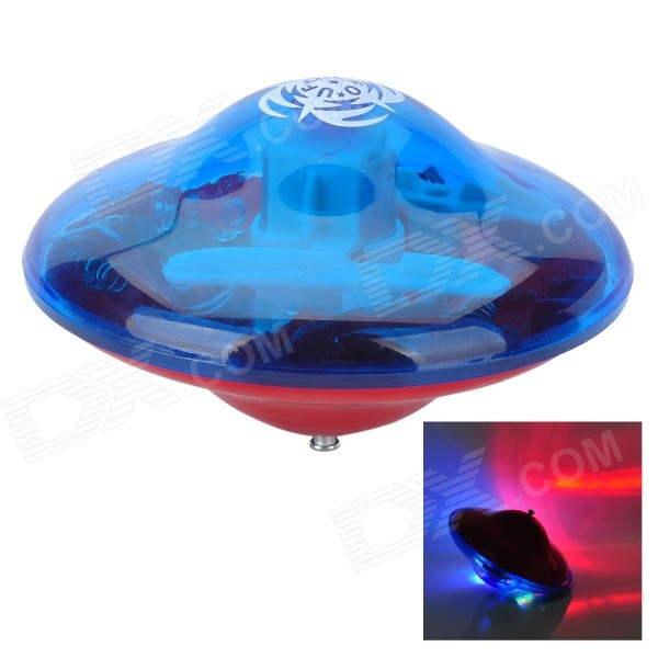 Colorful LED Flashing Music Gyro Toy - Red + Green (3 x AAA) ultrafire u608 ceramic bearing gyro toy green