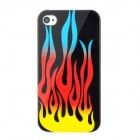 Coole Flamme Style Protective Kunststoff zurück Fall für iPhone 4 / 4S - Multicolor